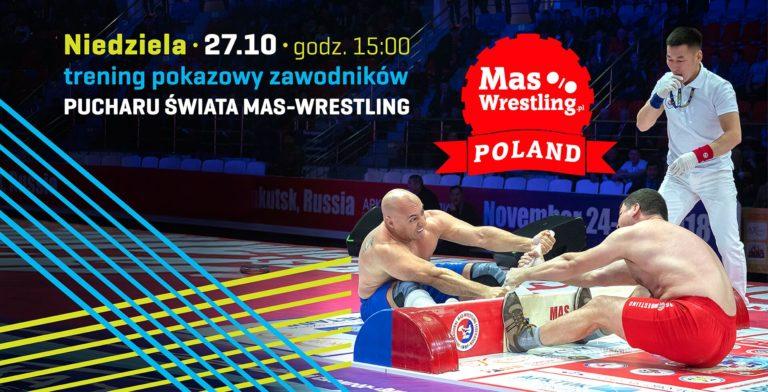 Pokazowy trening zawodników Mas-Wresling w Tkalnia Pabianice!