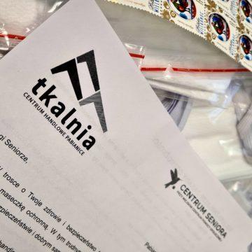 Maseczki dla seniorów Pabianic od Tkalni