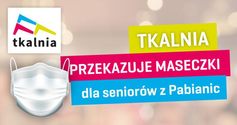 Tkalnia przekazuje maseczki dla seniorów z Pabianic