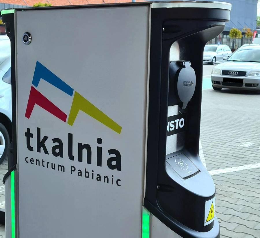 Stacja ładowania samochodów elektrycznych - Tkalnia Pabianice