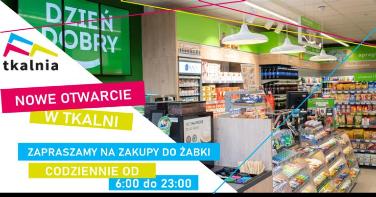 Witamy sklep Żabka w Tkalni