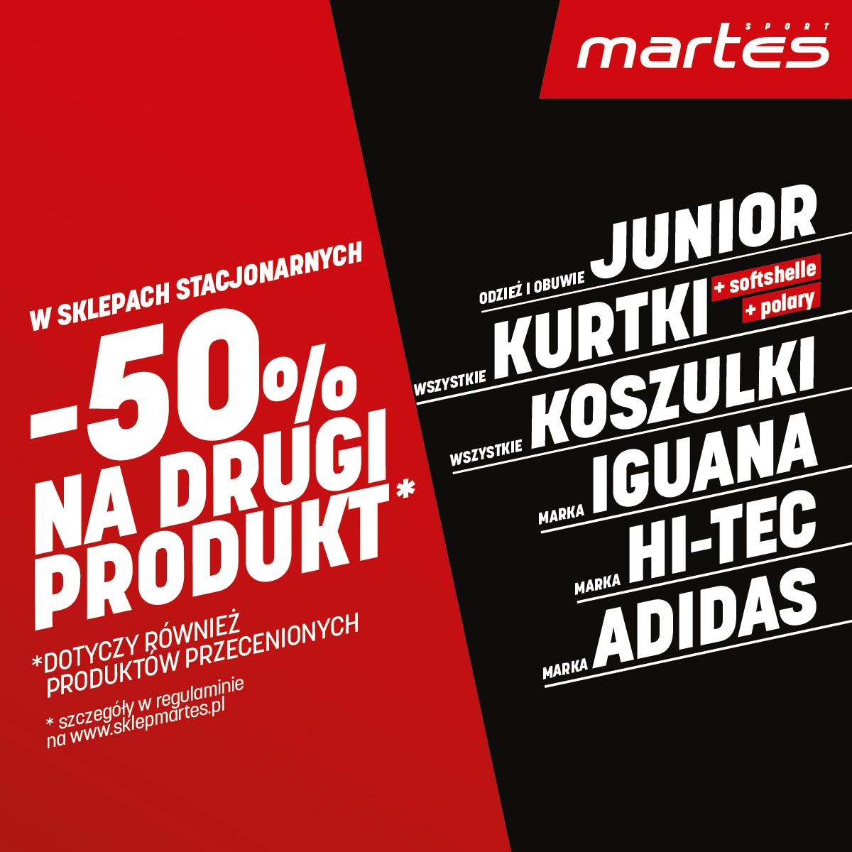 Promocja w sklepie Martes Sport w Tkalni