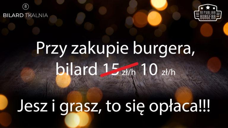 Republika Burgera w Tkalni: jesz i grasz, to się opłaca!