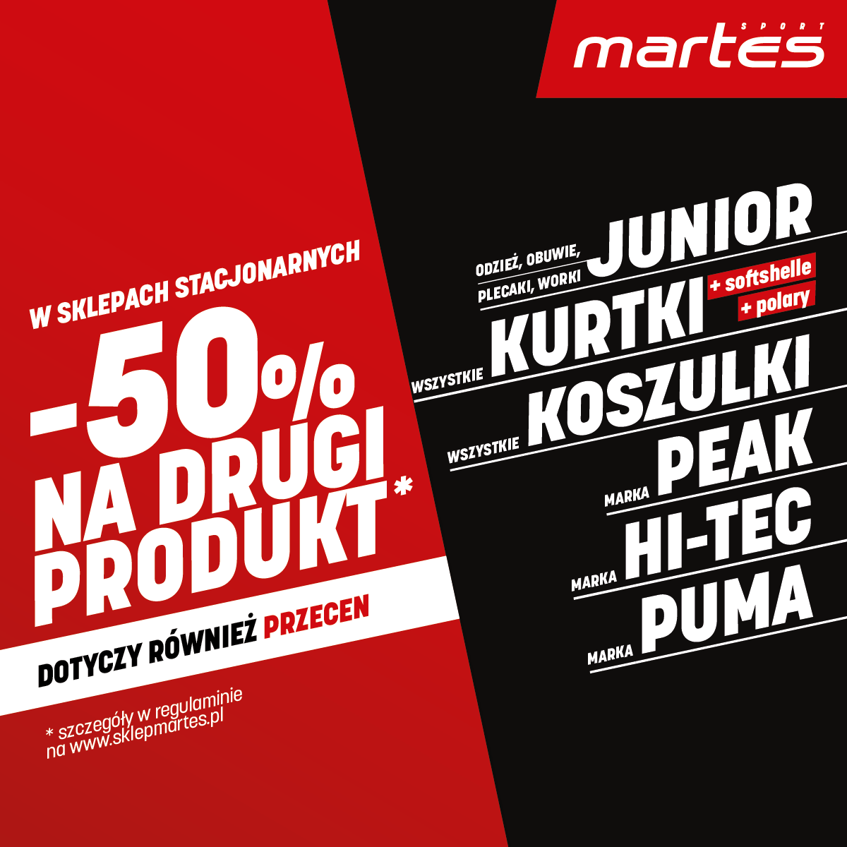 Promocja w sklepie Martes Sport