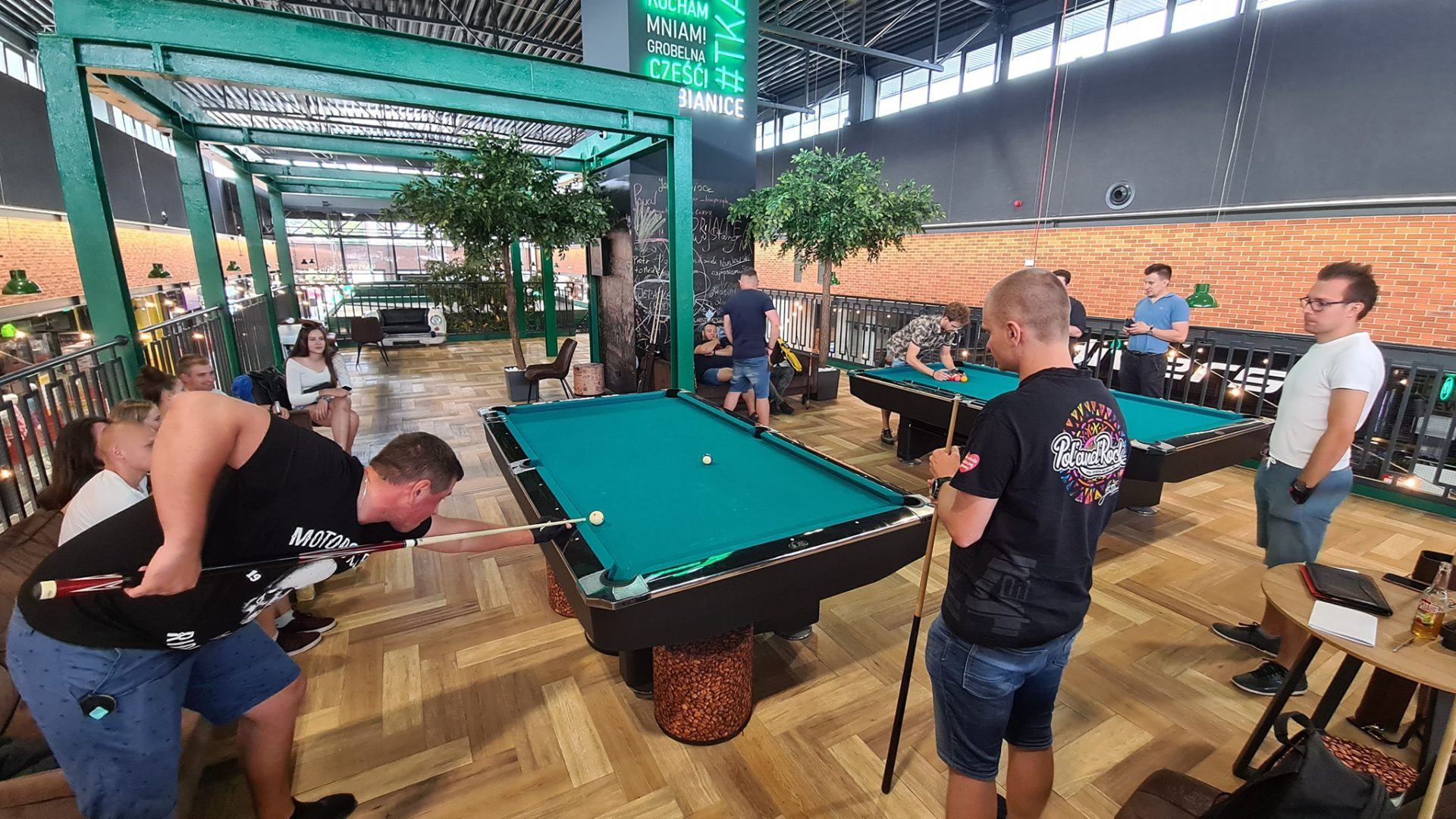 Pierwszy turniej bilardowy w Tkalni