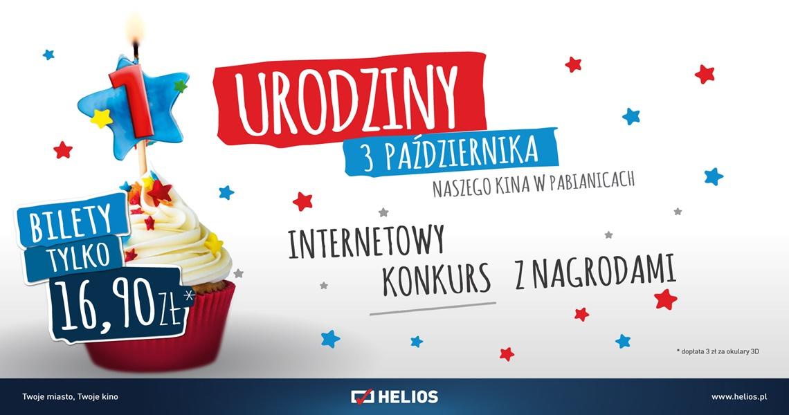 Konkurs do urodzin kina Helios w Tkalni
