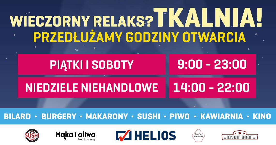 Wieczorny relaks najlepszy w Tkalni! Przedłużamy godziny otwarcia gastronomii!