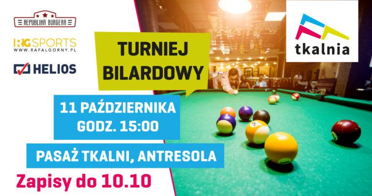Nowy turniej bilardowy na antresoli w Tkalni