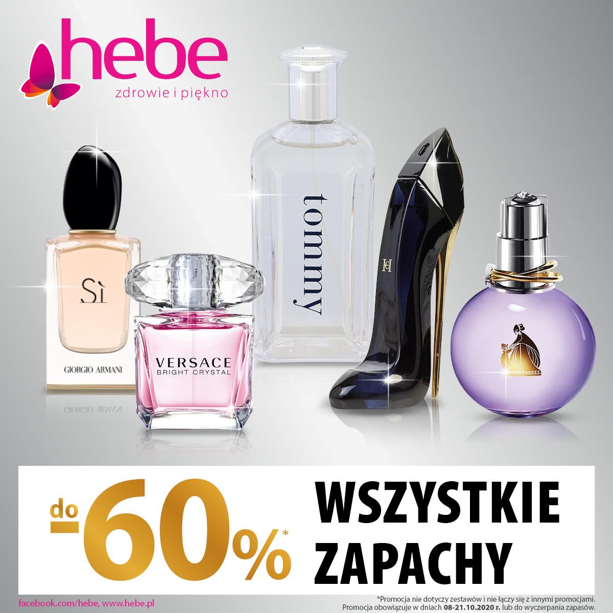 -60% na wszystkie zapachy w Hebe w Tkalni