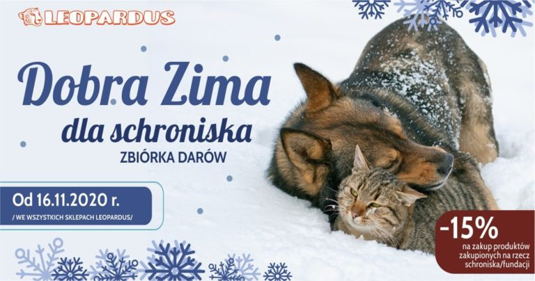 Dobra zima dla shroniska ze sklepem Leopardus w Tkalni