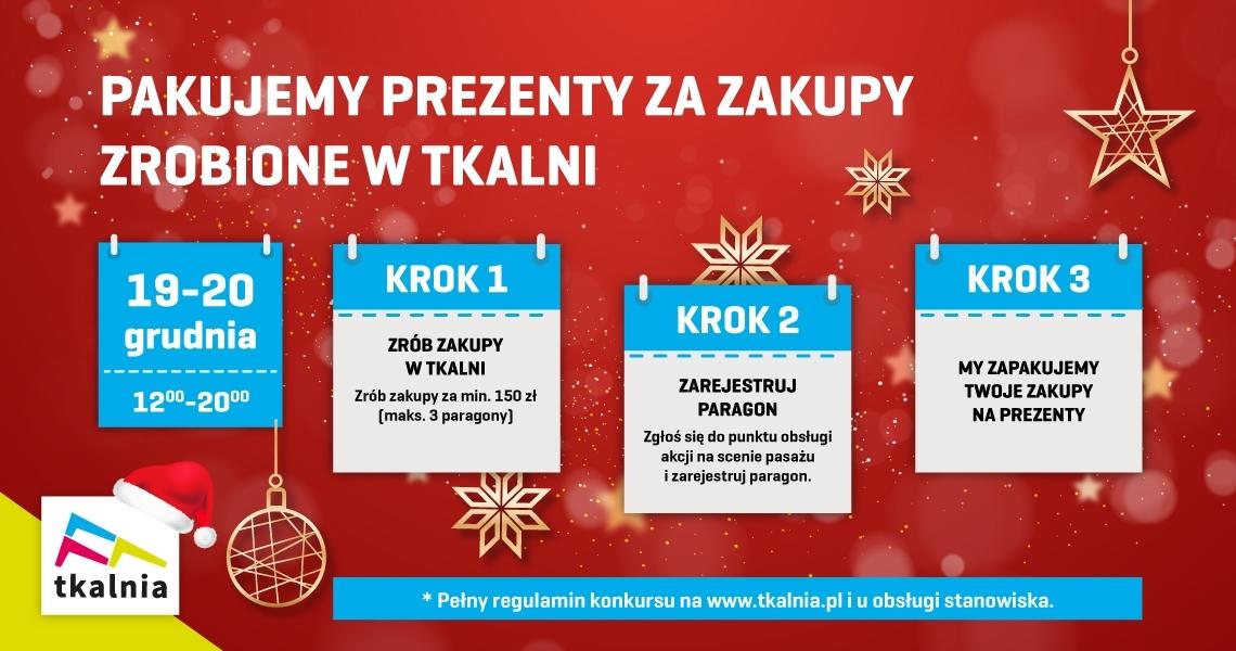 19-20 grudnia pakujemy prezenty w Tkalni