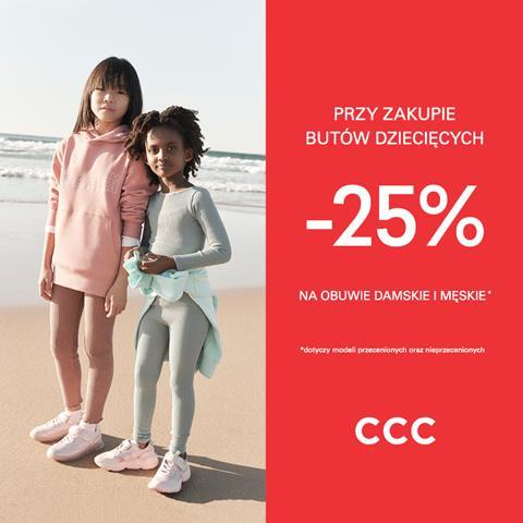 Promocja w sklepie CCC w Tkalni