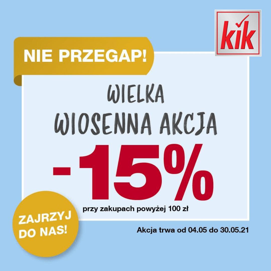Sklep Kik w Tkalni