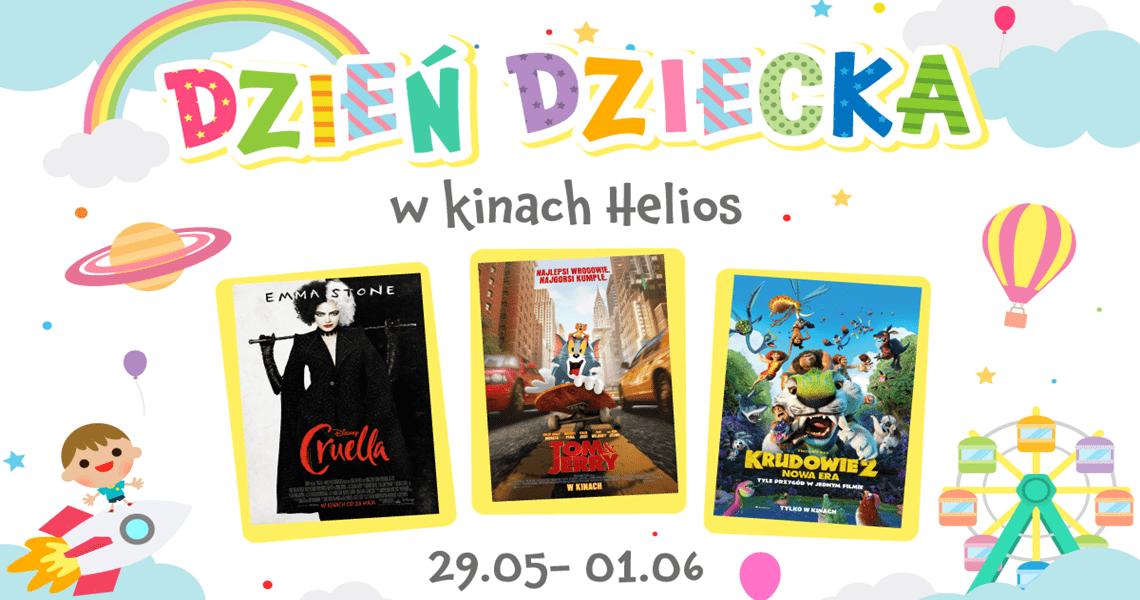 Kino Helios w Tkalni - oferta do Dnia Dziecka