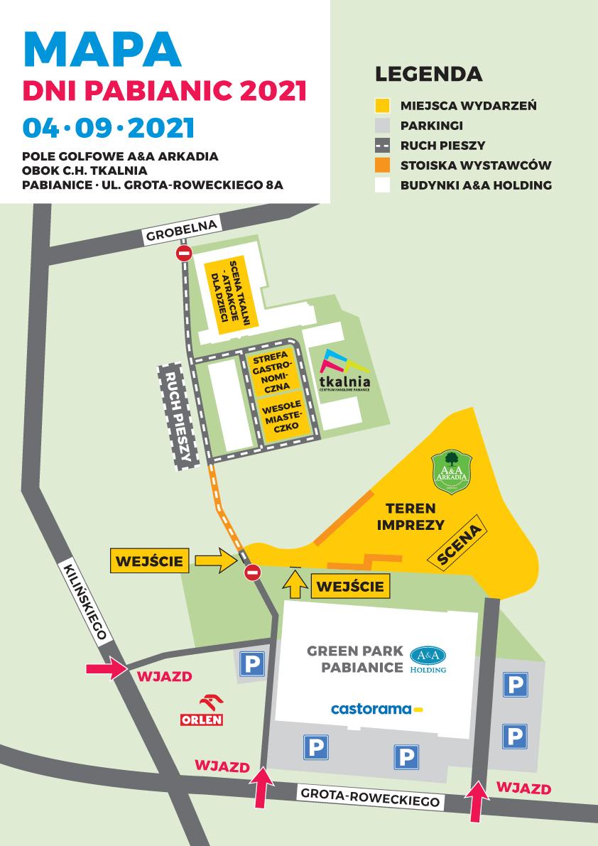 Dni Pabianic - mapa wydarzenia