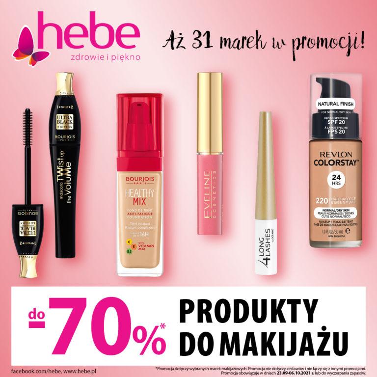Hebe – Produkty do makijażu do 70% taniej