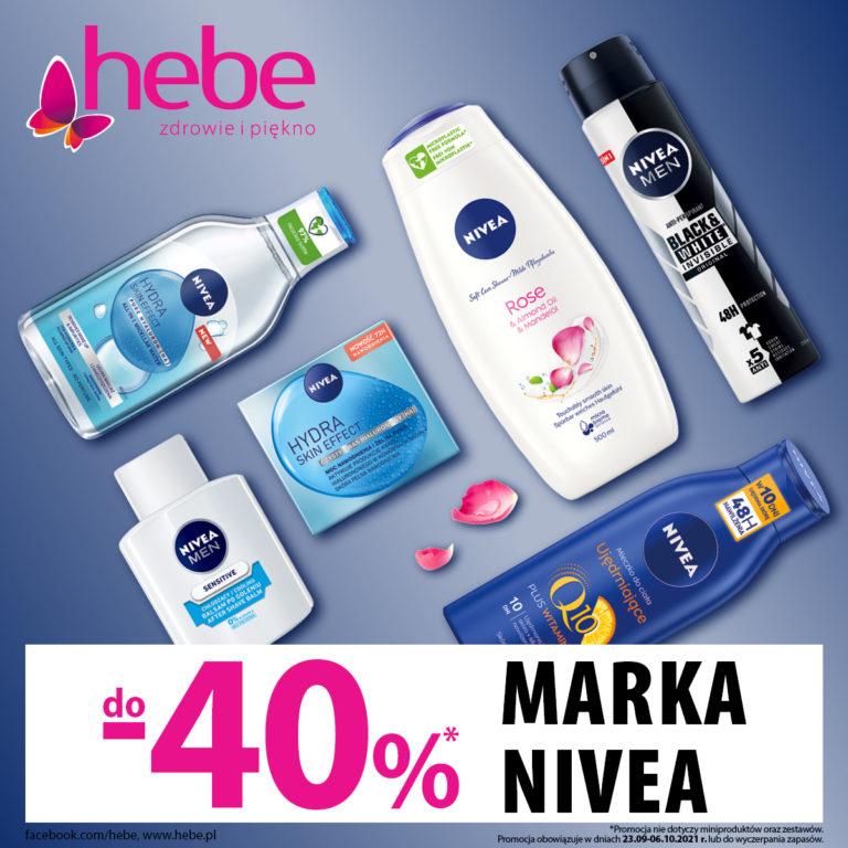 Hebe – Produkty marki Nivea do 40% taniej