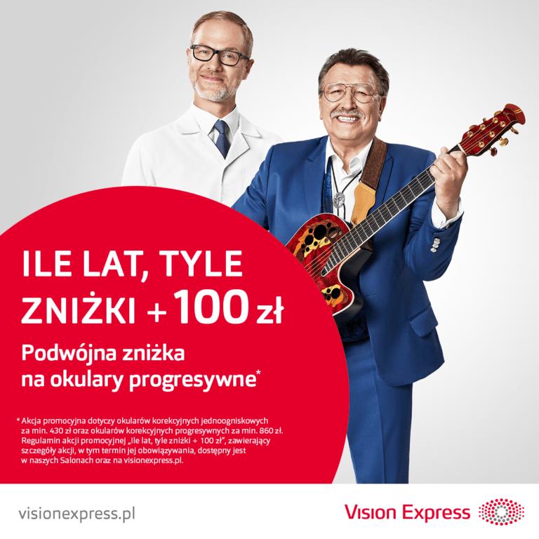 Vision Express – Ile lat, tyle zniżki +100zł