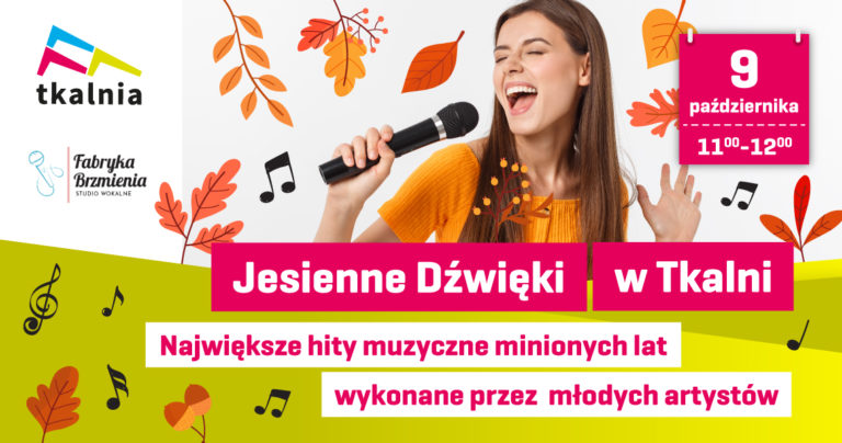Koncert Jesienne Dźwięki w Tkalni