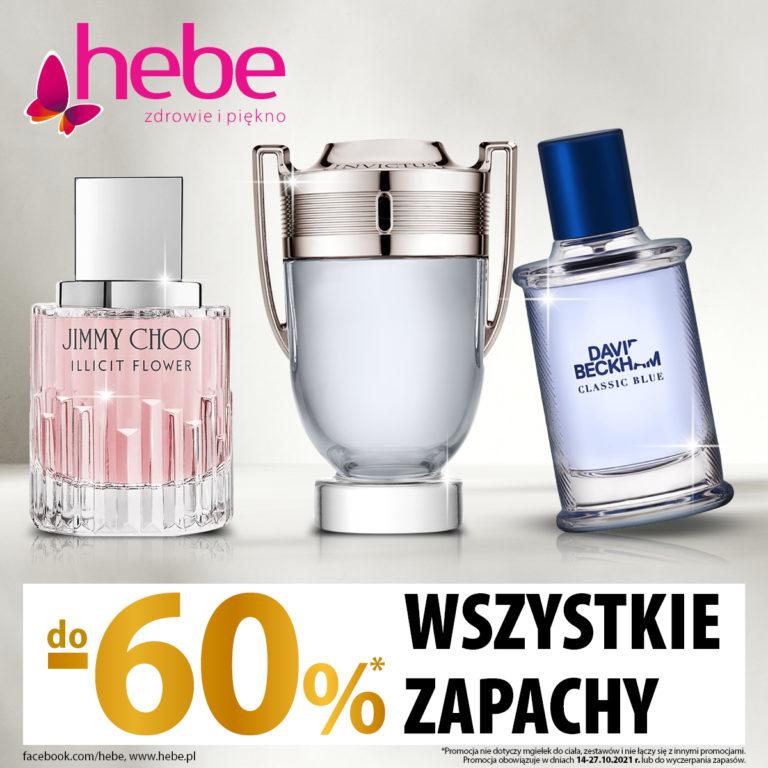 Hebe – zapachy do 60% taniej